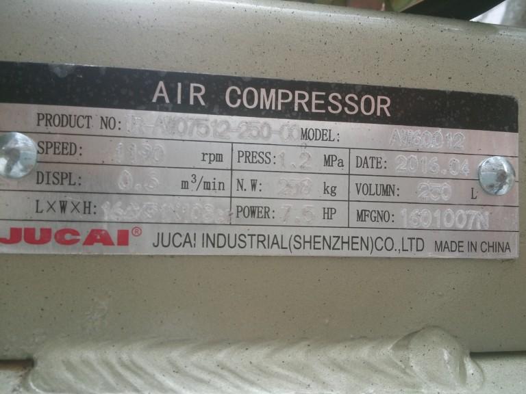 thông số máy nén khí