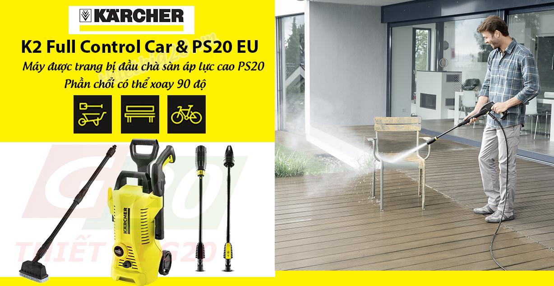 Máy xịt rửa gia đình Karcher K2 Full & PS20 EU