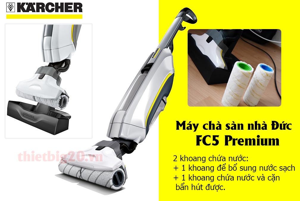 Máy lau sàn nhà của Đức Karcher FC5 Premium