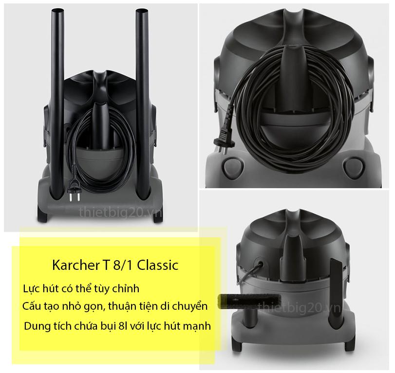 Chọn máy hút bụi chất lượng tốt - Karcher T8/1 Classic
