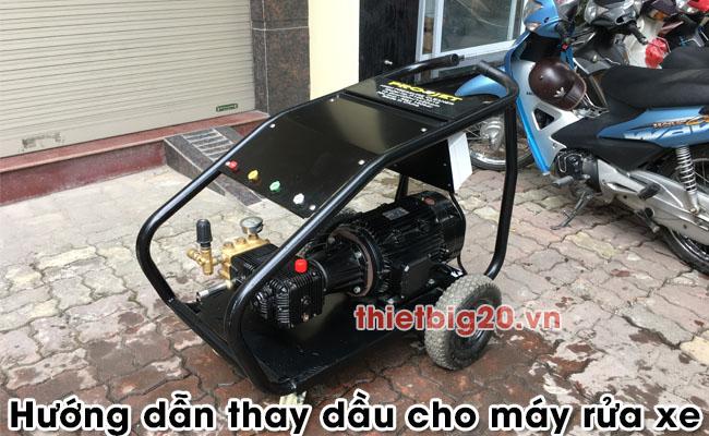 Hướng dẫn thay dầu cho máy rửa xe