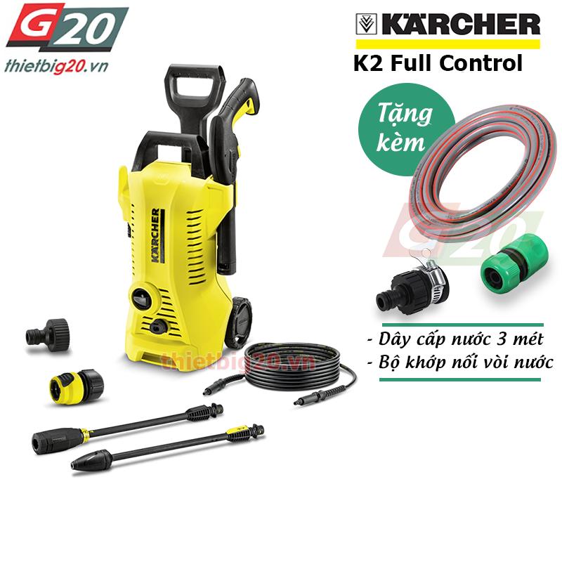 Máy phun rửa ô tô gia đình có chỉnh áp Karcher K2 Full Control EU