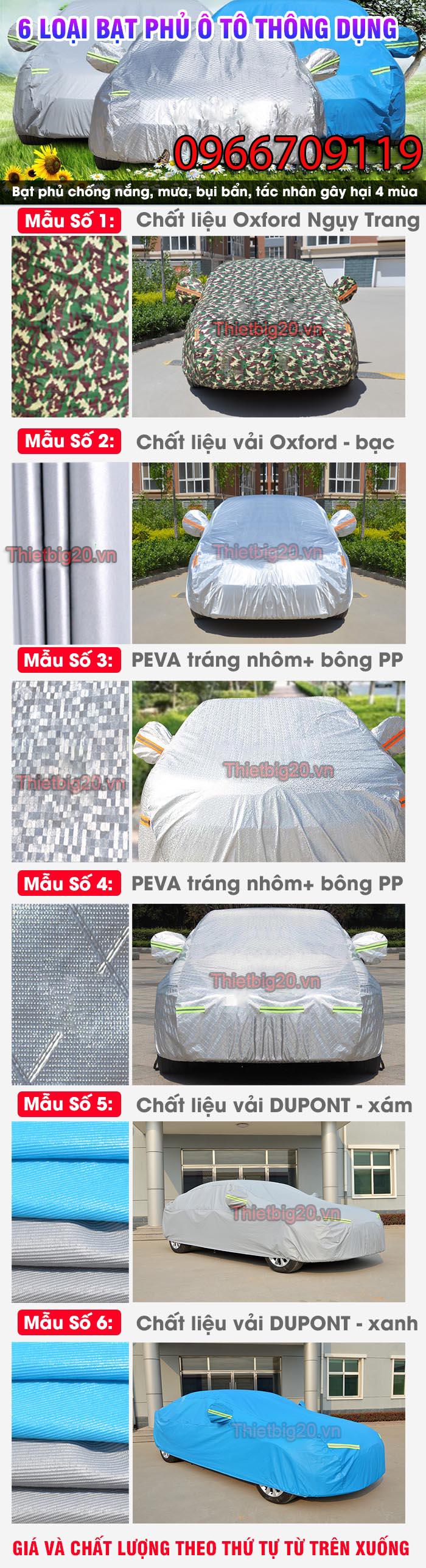 các loại bạt phủ ô tô thông minh