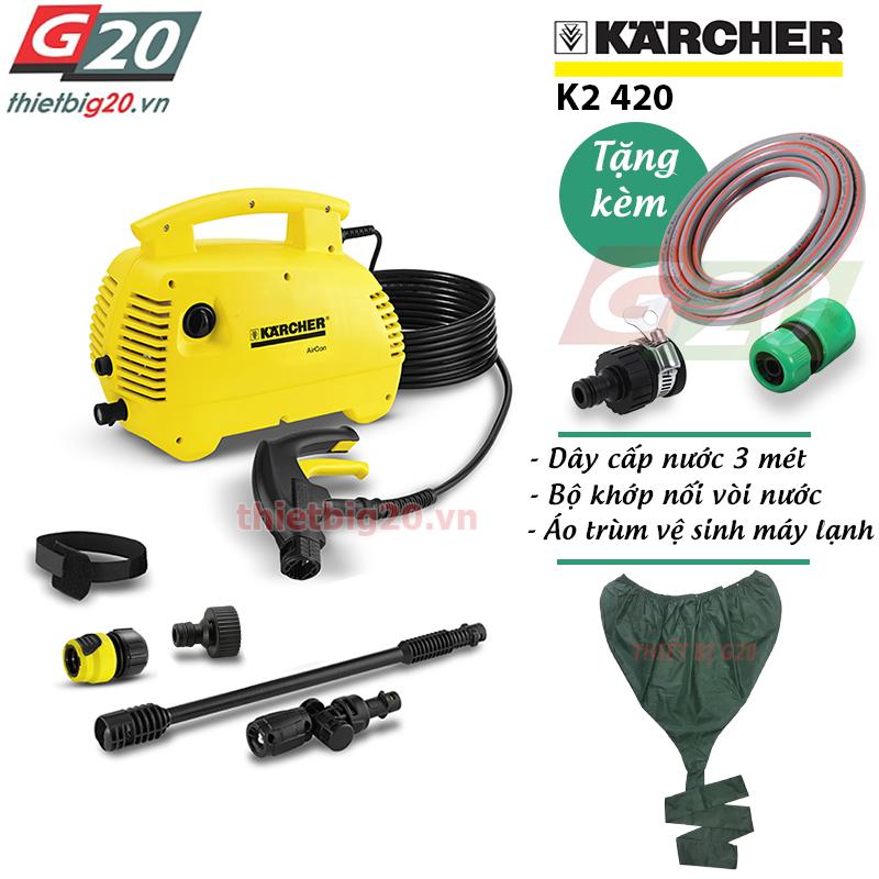 Máy rửa xe gia đình, xịt rửa điều hòa Karcher K2 420