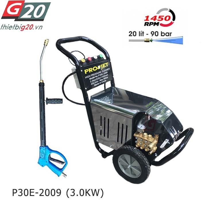 Máy xịt rửa xe cao áp Projet P30E-2009 - 3kW, 90bar, 20 L/phút