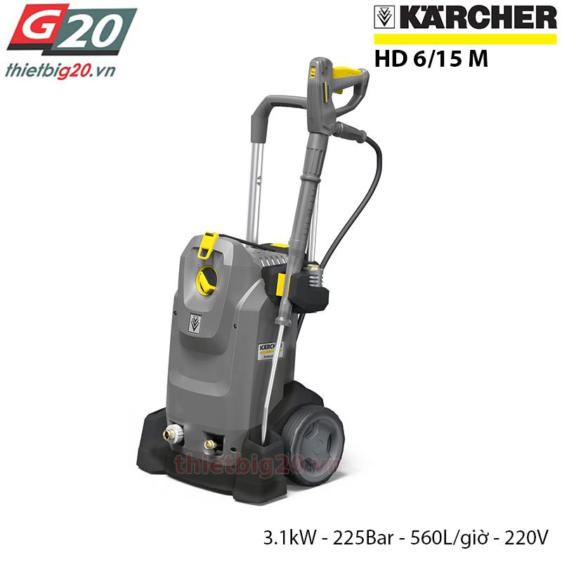 Máy bơm rửa ô tô, xe máy áp lực cao của Karcher HD 6/15M